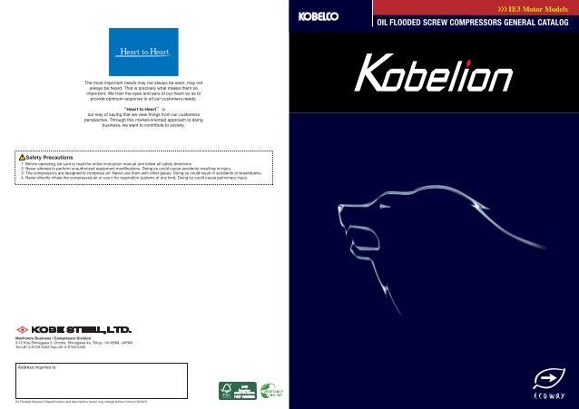 KOBELION VX/VS series brochure - New kobelion  oil flooded (japan)
