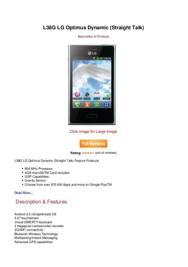 L38G LG Optimus Dynamic (Straight Talk)                                          Best seller of Produce                   ...