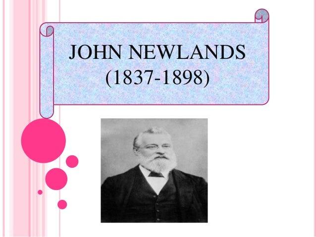 JOHN NEWLANDS (1837-1898)