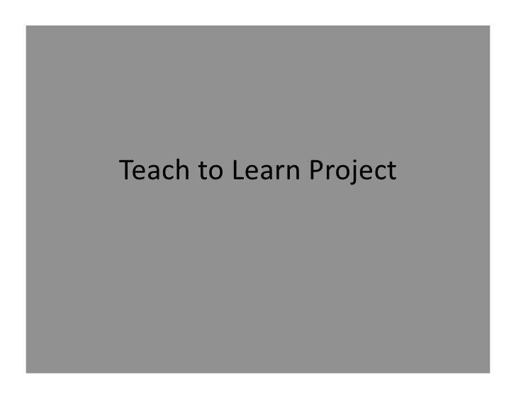 TeachtoLearnProject
