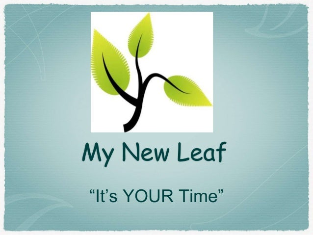 "My New Leaf ""It's YOUR Time"""