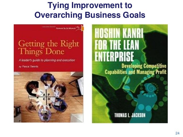 Tying Improvement to Overarching Business Goals  24