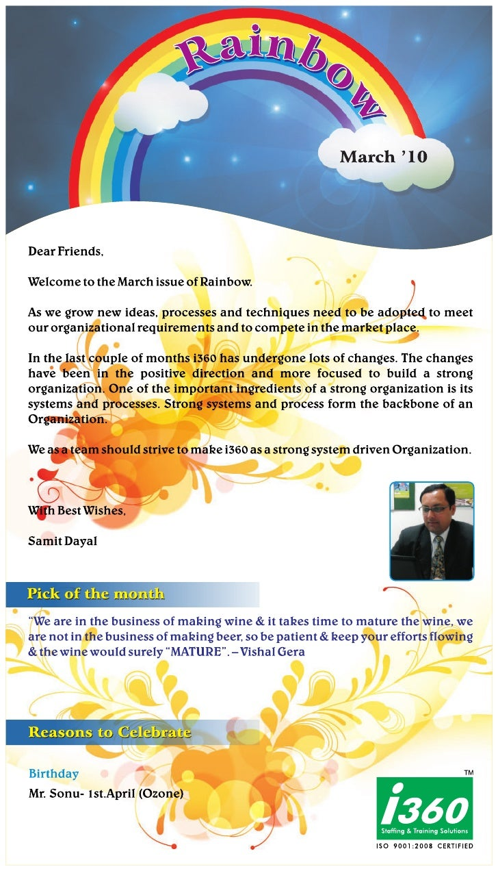 I360 Franchise Newsletter March 2010