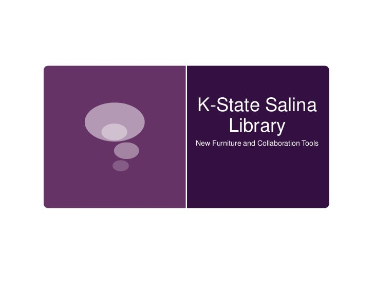 K-State Salina   LibraryNew Furniture and Collaboration Tools