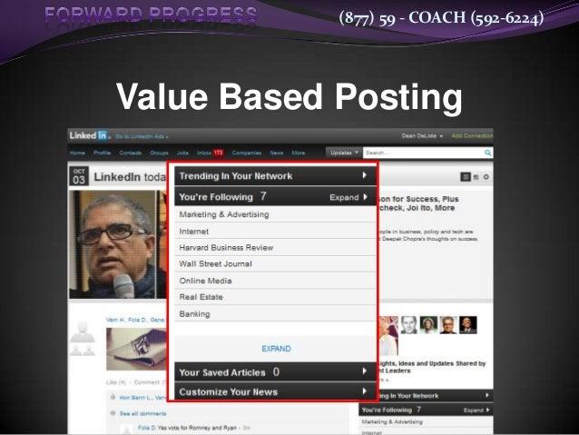 (877) 59 - COACH (592-6224)Value Based Posting