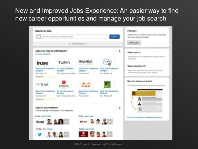 New and Improved Jobs Experience: An easier way to findnew career opportunities and manage your job search                ...
