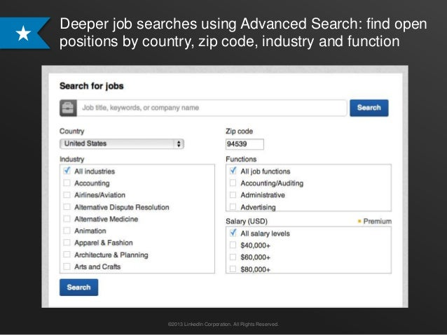 Deeper job searches using Advanced Search: find openpositions by country, zip code, industry and function               ©2...