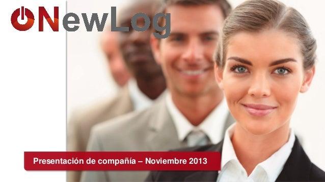 Presentación de compañía – Noviembre 2013