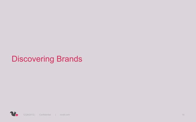 Discovering Brands  12/28/2012 |   Confidential   |   loveit.com   16