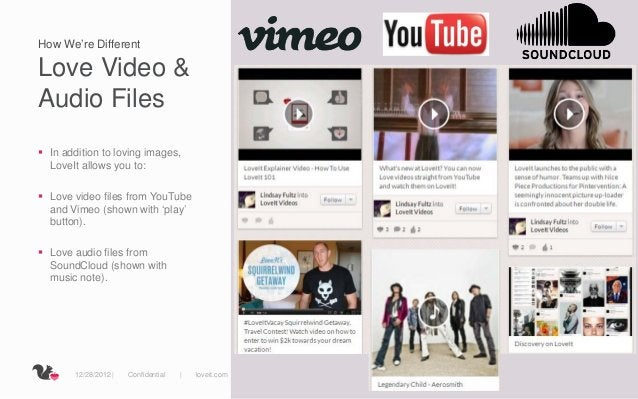 How We're DifferentLove Video &Audio Files In addition to loving images,  LoveIt allows you to: Love video files from Yo...