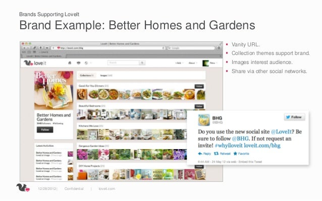 Brands Supporting LoveItBrand Example: Better Homes and Gardens                                                       Van...