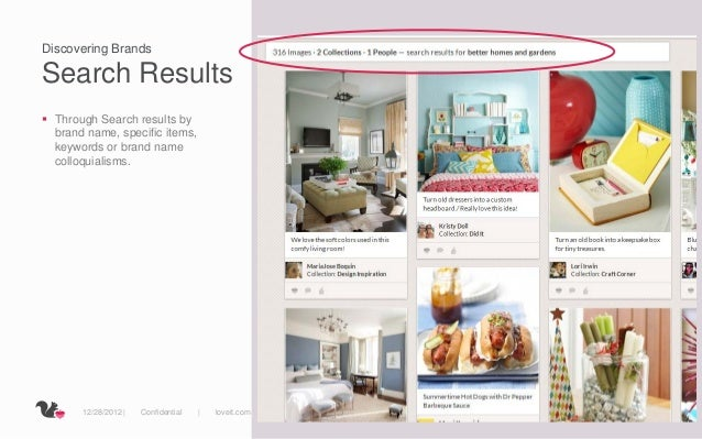 Discovering BrandsSearch Results Through Search results by  brand name, specific items,  keywords or brand name  colloqui...