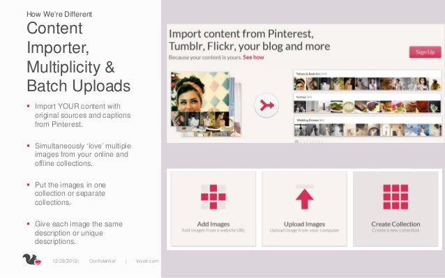 How We're DifferentContentImporter,Multiplicity &Batch Uploads Import YOUR content with  original sources and captions  f...