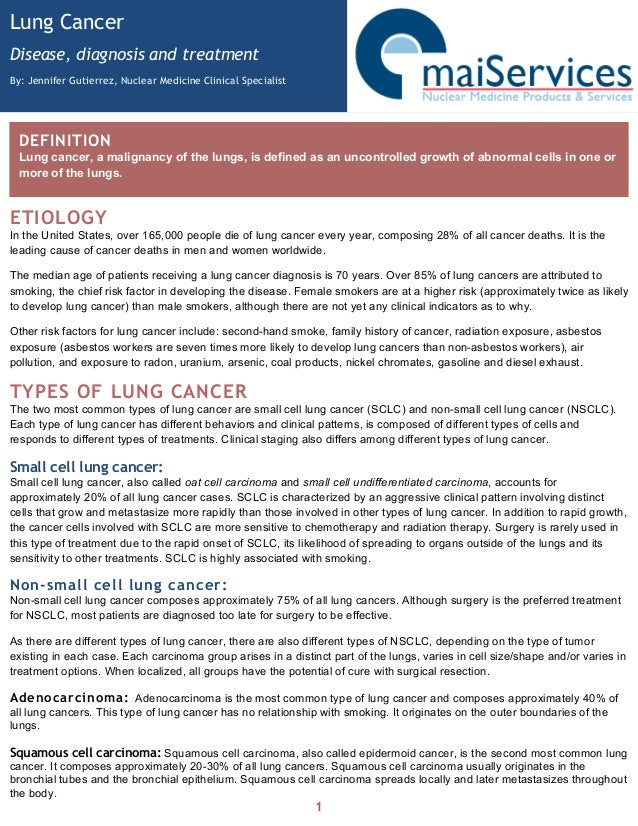 the clinical background information of lung cancer Phase 0/i/ii cancer prevention clinical trials obtaining biospecimens and data from the prostate, lung  background information biospecimens cancer data.