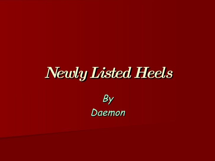 Newly Listed Heels By Daemon