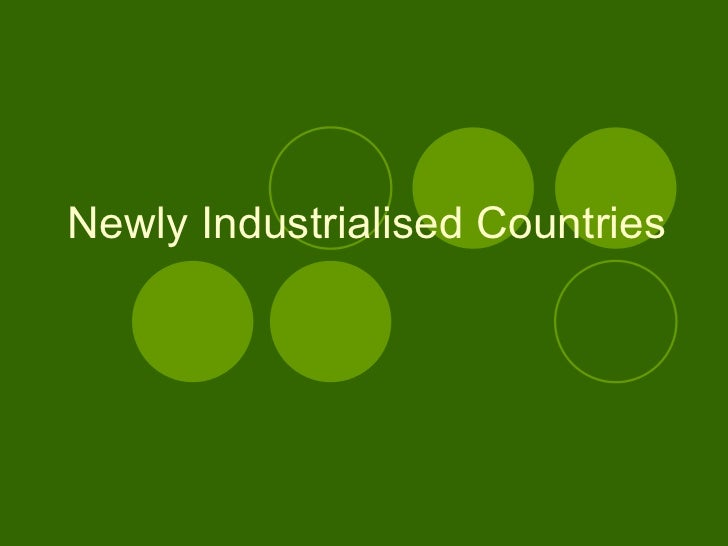 newly industrialized countries in asia