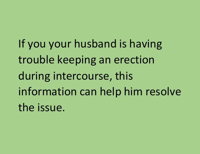 keeping an erection