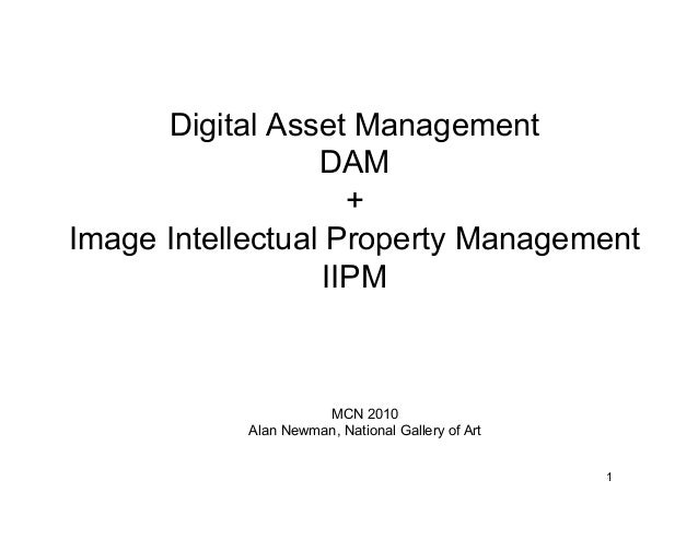 Digital Asset Management DAM + Image Intellectual Property Management IIPM 1 MCN 2010 Alan Newman, National Gallery of Art