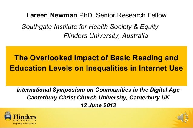Lareen Newman PhD, Senior Research Fellow Southgate Institute for Health Society & Equity Flinders University, Australia T...