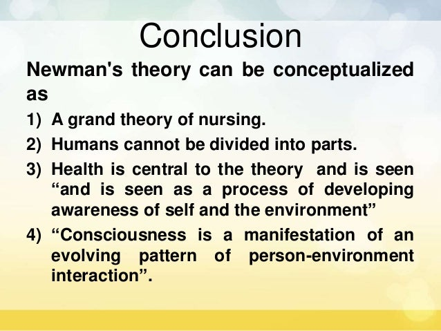 newmans health theory critique This guide describes how and where to find nursing theory and theorist information in books, articles, and websites  nursing theory resources: journal articles.