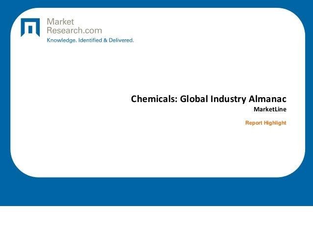 Chemicals: Global Industry Almanac MarketLine Report Highlight