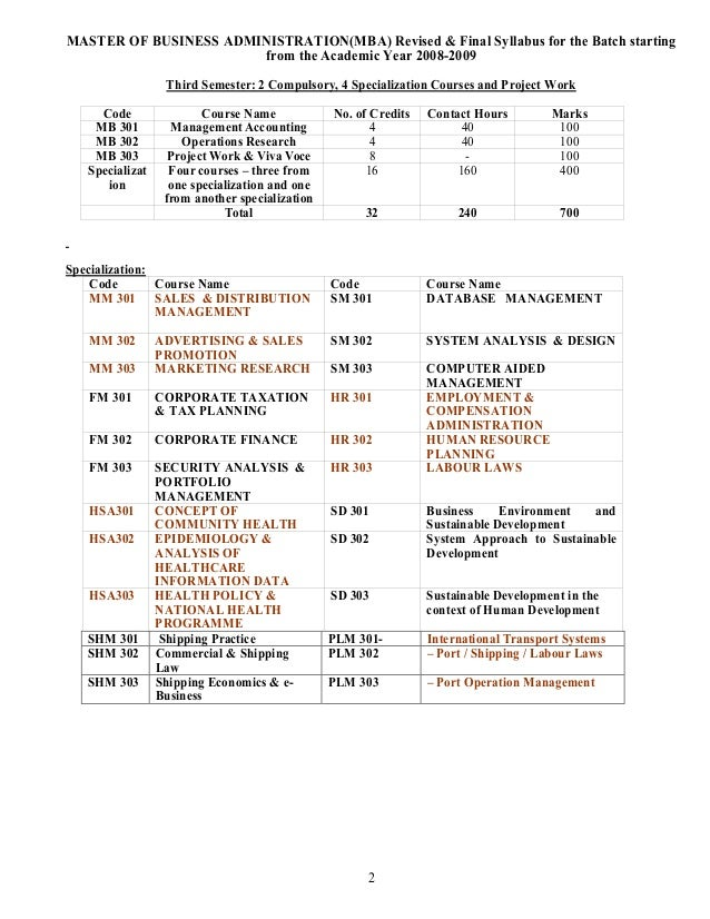 Courses & Syllabus