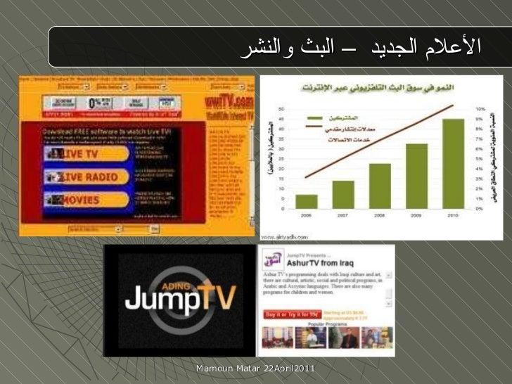 الأعلام الجديد  – البث والنشر  Mamoun Matar 22April2011