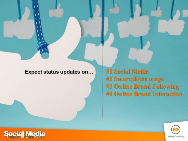 1 expect status updates on 1 social media 2 smartphone usage 3 o