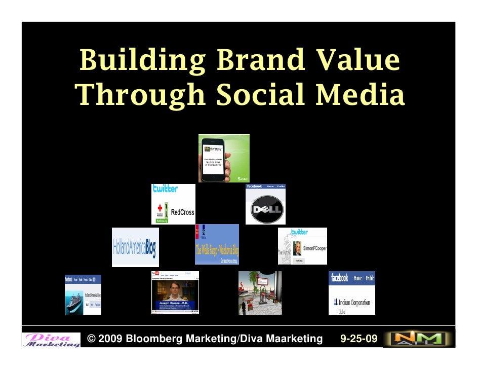 Building Brand Value Through Social Media     © 2009 Bloomberg Marketing/Diva Maarketing   9-25-09