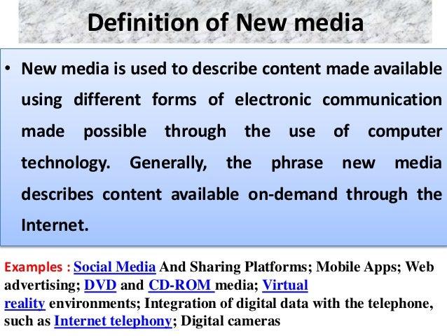 New media &