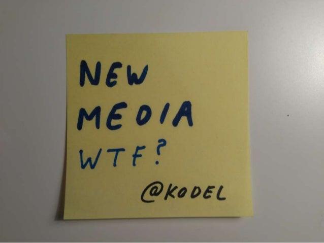 New media - VUB