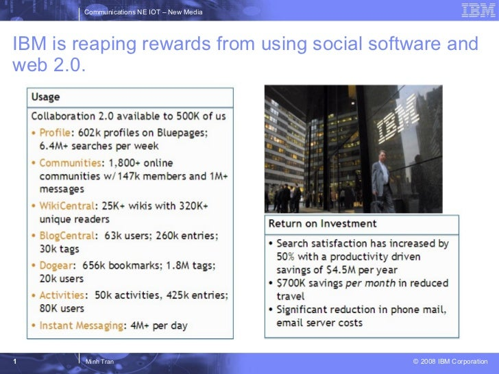IBM is reaping rewards from using social software and web 2.0.