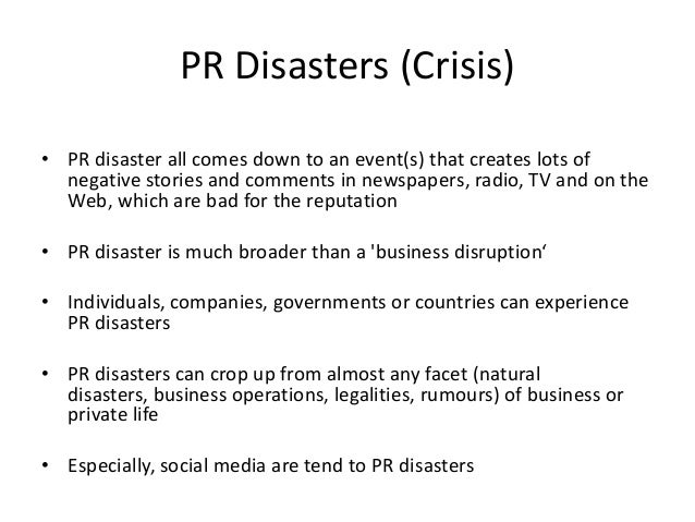 pr crisis case studies 2013 Crisis communication is a sub-specialty of the public relations landmark crisis communication case studies the toronto mayor rob ford scandals of 2013.