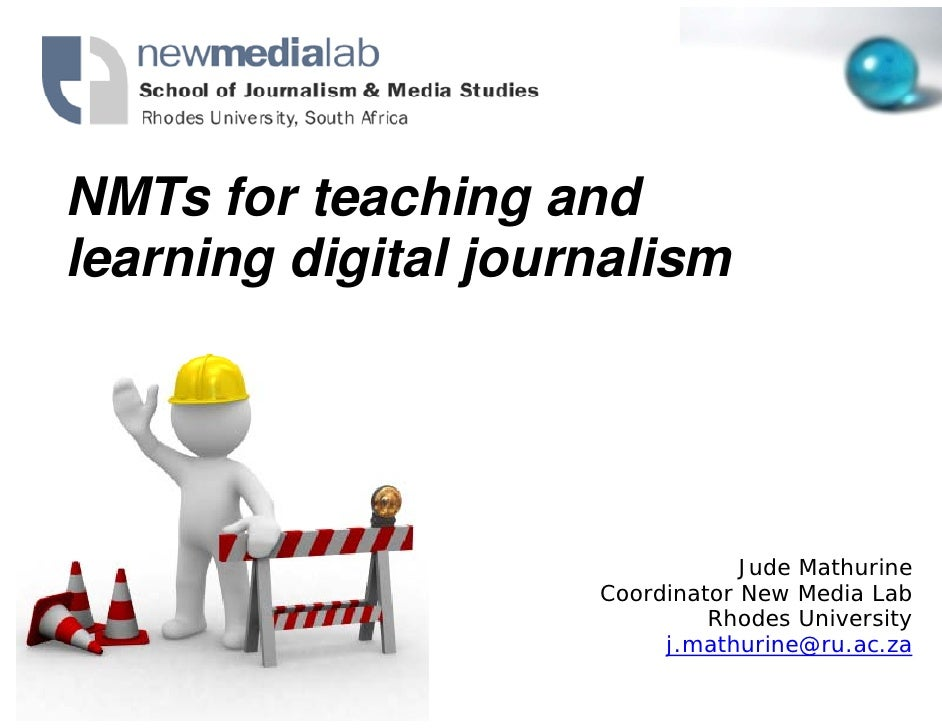 NMTs for teachin and NMT f t        hing d learning digital j                  journalism                                 ...