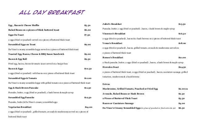 All Day Breakfast                                                                                           Juliet's Break...