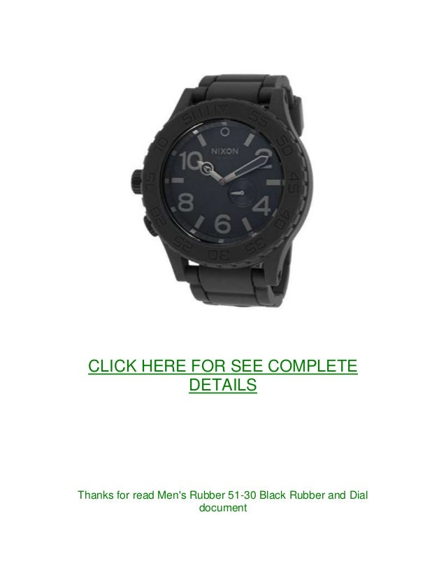 new men watches mens rubber 51 30 black rubber and dial