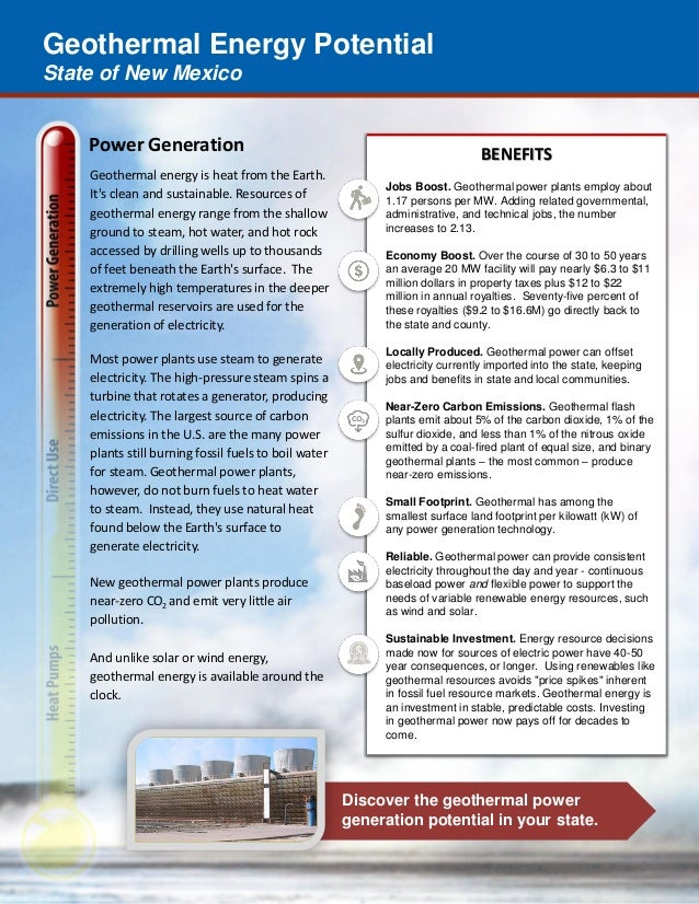 Geothermal Energy Potential State of New Mexico Discover the geothermal power generation potential in your state. Power Ge...