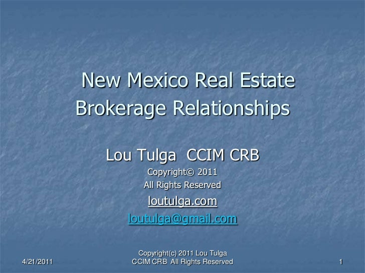 New mexico brokerage relationship choices