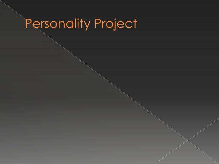 Personality Project<br />