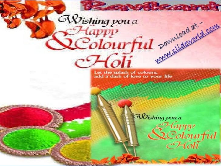 holi celebration ppt powerpoint presentation