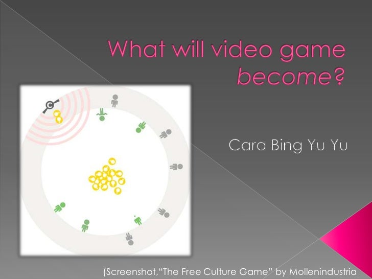 """What will video game become?<br />Cara Bing Yu Yu<br />(Screenshot,""""The Free Culture Game"""" by Mollenindustria<br />"""
