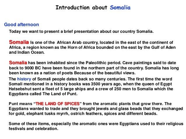 Presentation about Somalia