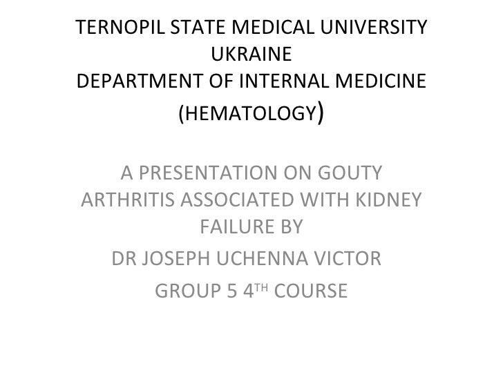 TERNOPIL STATE MEDICAL UNIVERSITY             UKRAINEDEPARTMENT OF INTERNAL MEDICINE          (HEMATOLOGY)   A PRESENTATIO...