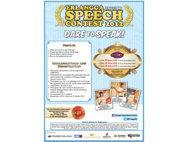 Erlangga Speech Contest 2012