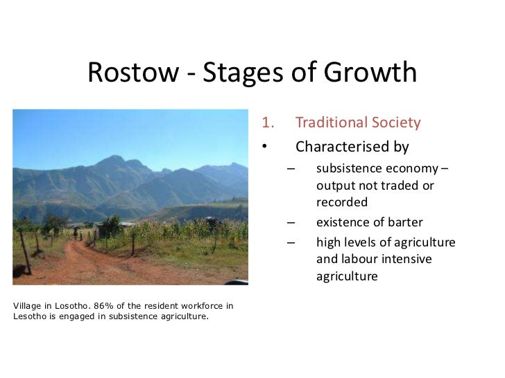 rostows stages of development
