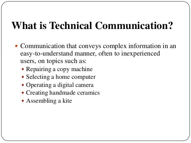 importance of technical communication pdf