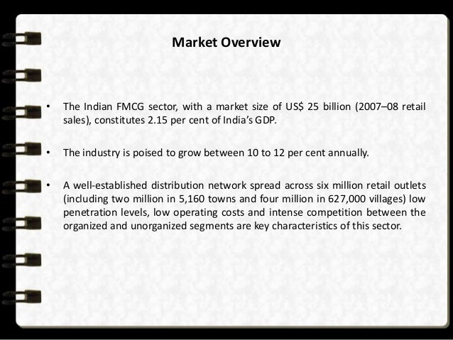 fmcg sector The fast-moving consumer goods (fmcg) sector is the fourth largest sector in india as per the boston consulting group (bcg), the indian fmcg market is estimated at.