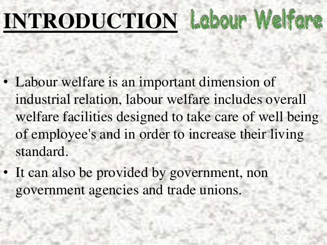 labour welfare in hindi
