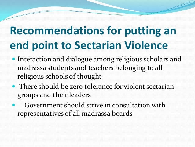 secterian violence and banned militant organizations in ...
