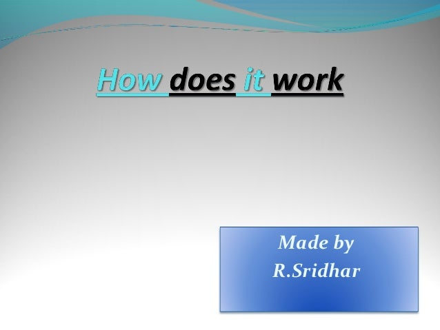 Made by R.Sridhar